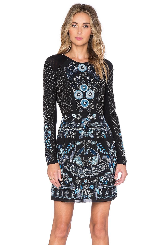 Lyst Needle Amp Thread Lace Mesh Long Sleeve Mini Dress