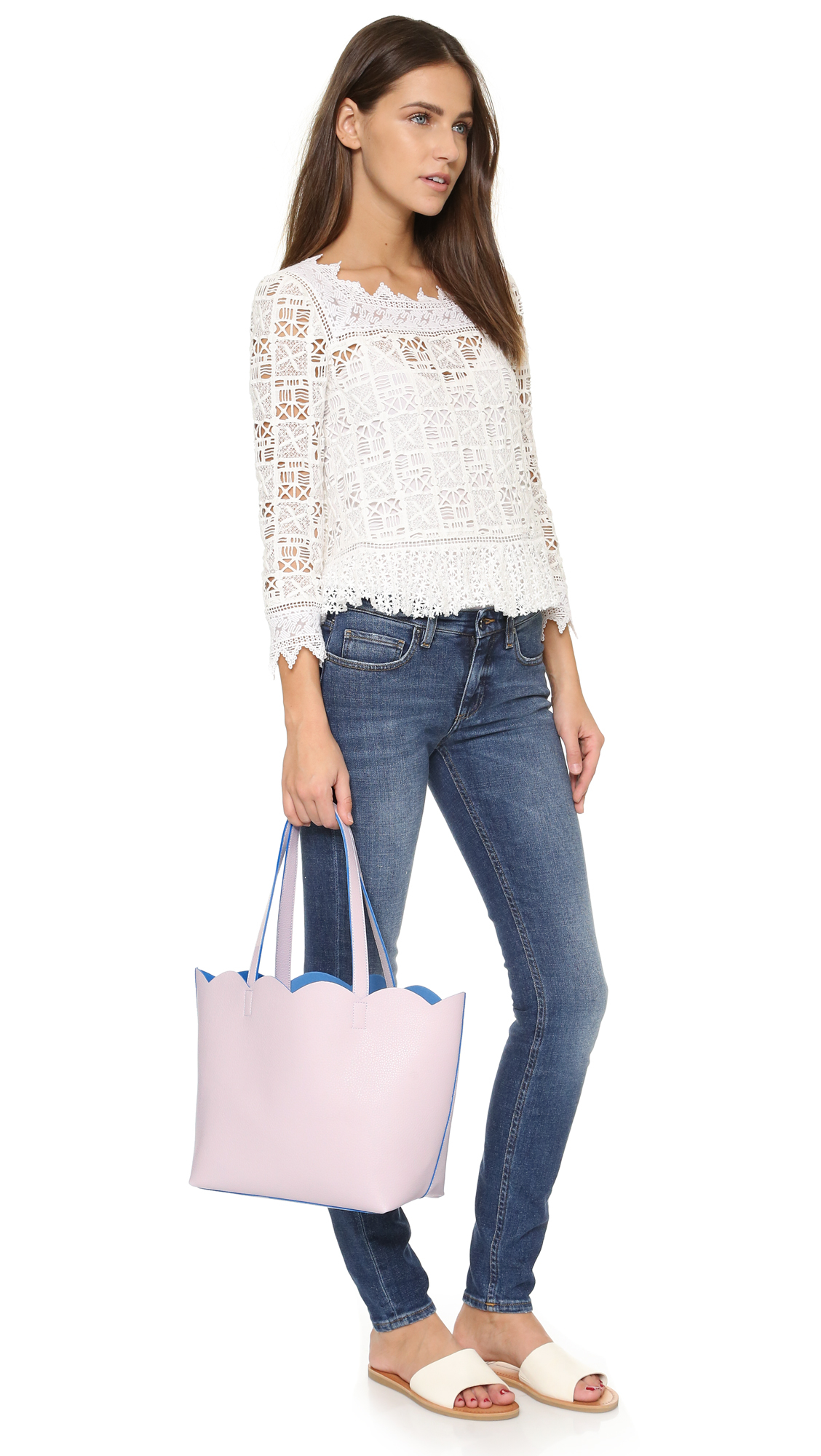 Deux Lux Leyla Small Tote in Lilac (Purple)