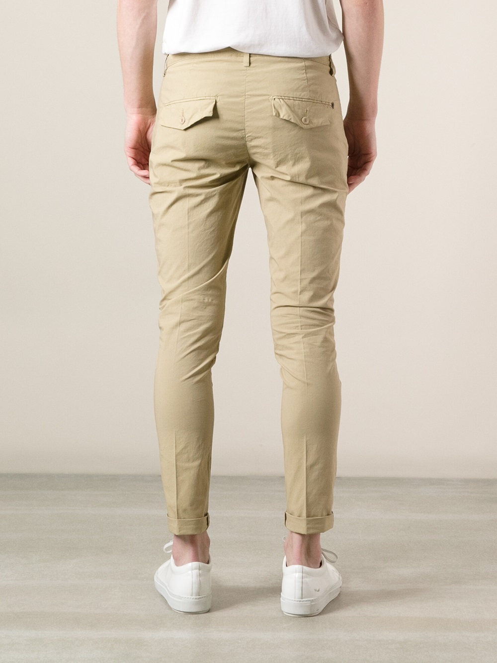 Lyst - Dondup Gaubert Skinny Chino Trouser In Natural -3100