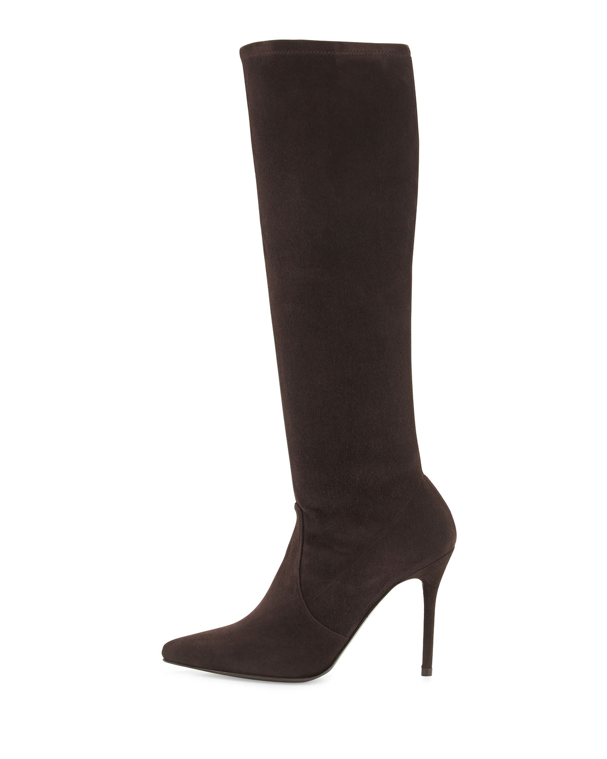 stuart weitzman benefit stretch suede boot cola made to