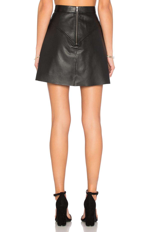 muubaa mini skirt in black lyst