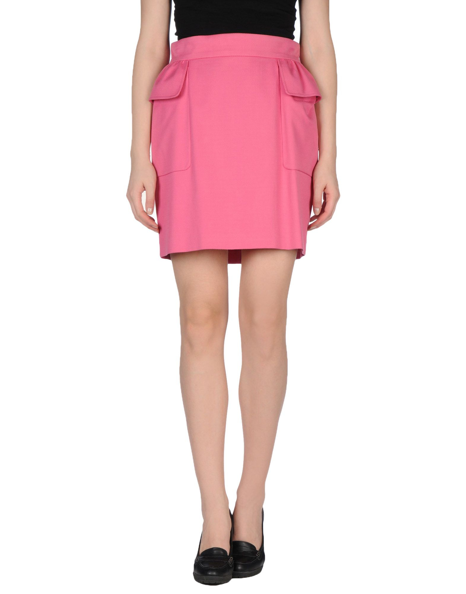 tonello knee length skirt in pink lyst