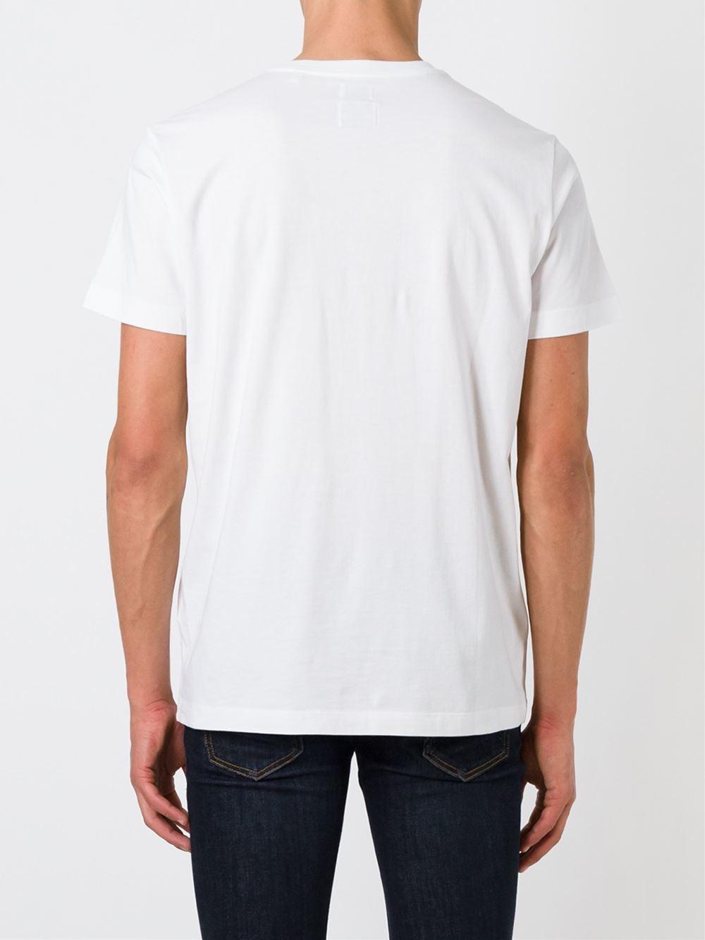 Diesel v neck t shirt in white for men lyst for White v neck shirt mens