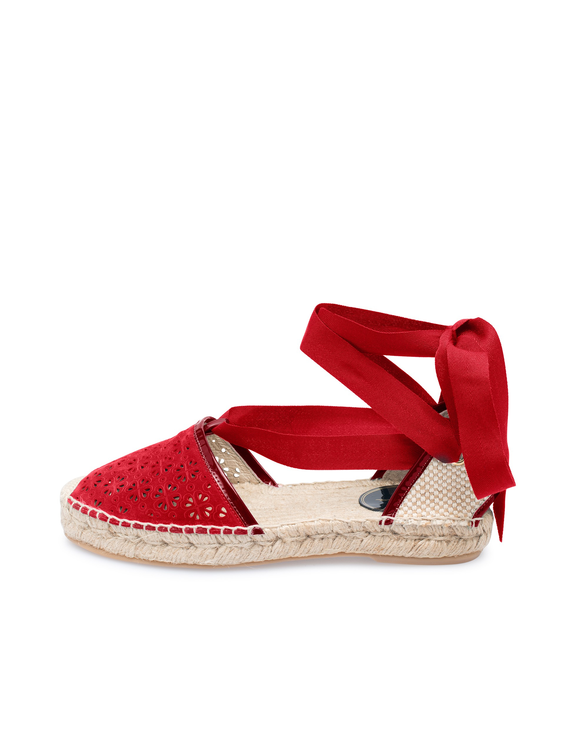 Ruby Laser Perforated Suede Sandals 9AFGMT6r