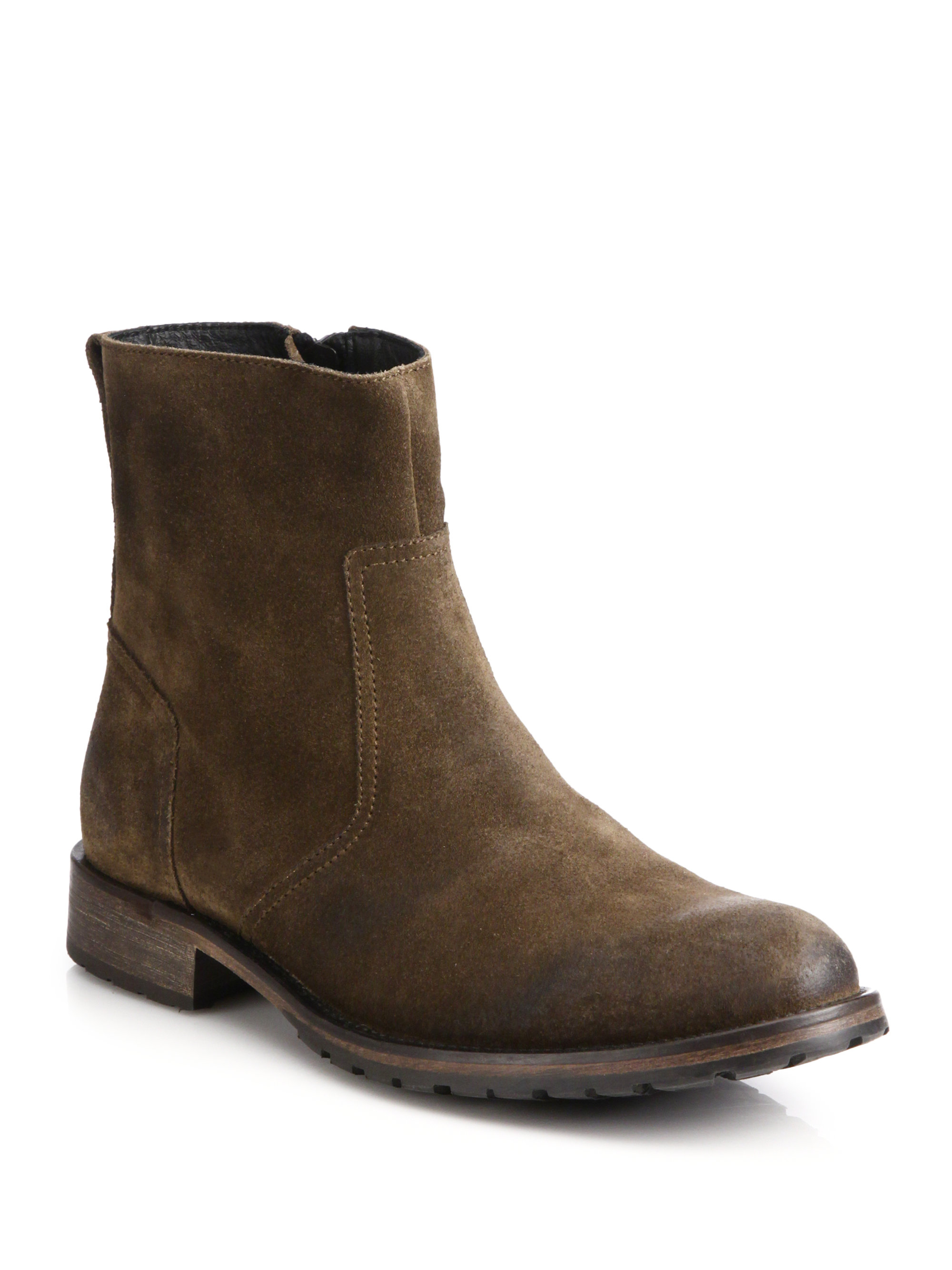 belstaff attwell suede ankle boots in brown for lyst