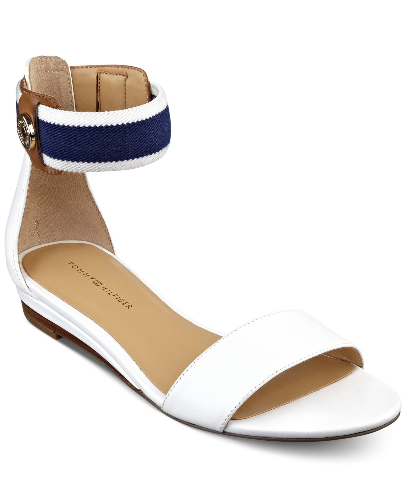 9d4556a5bd65 Lyst - Tommy Hilfiger Womens Paisley Wedge Sandals in White