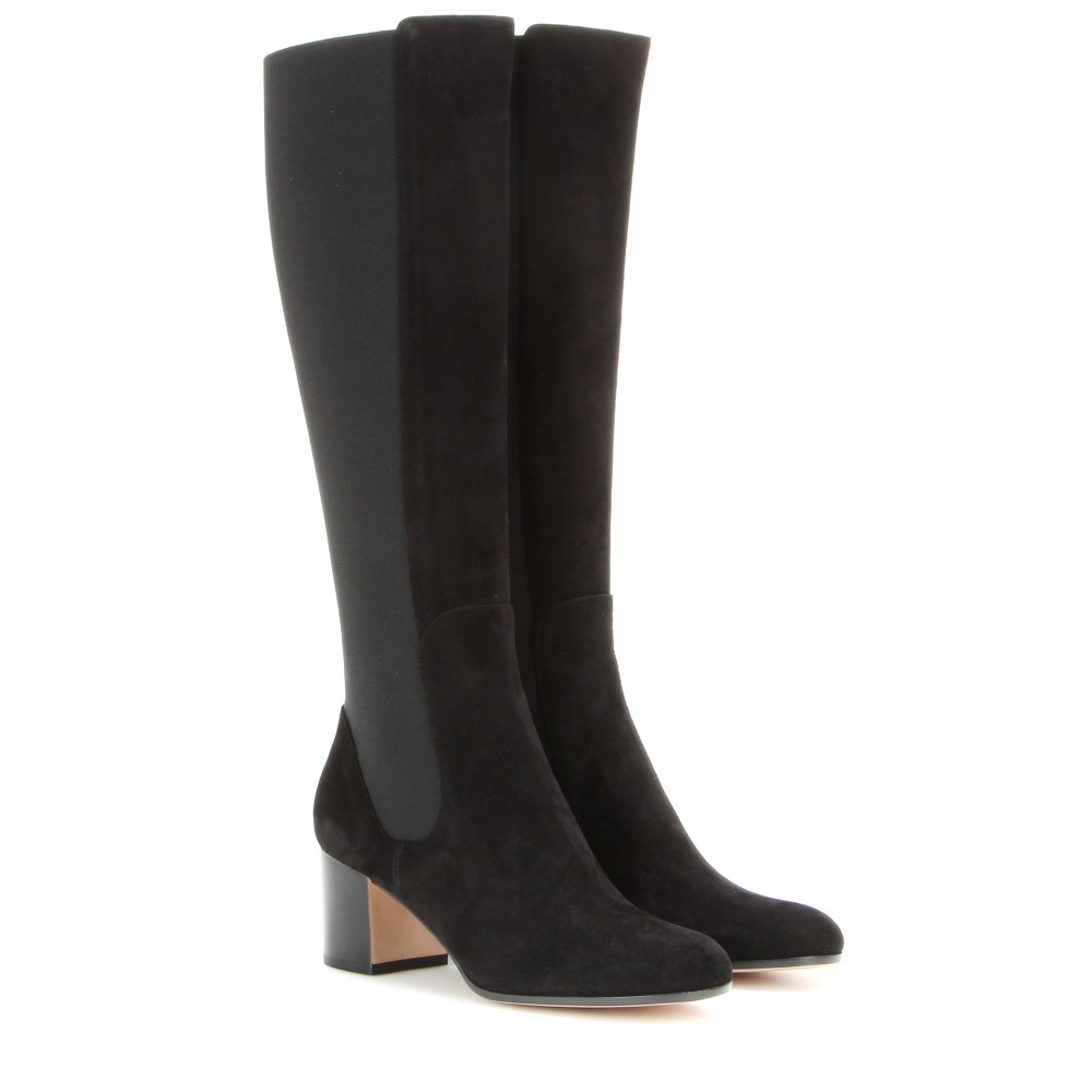 lyst gianvito rossi suede boots in black. Black Bedroom Furniture Sets. Home Design Ideas