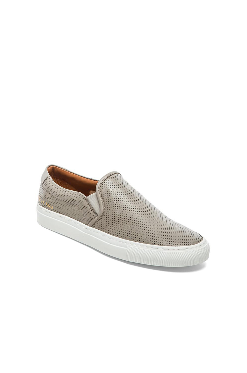 d5f98b13fa8a4 Lyst - Common Projects Perforated Slip-On Sneakers in Gray for Men