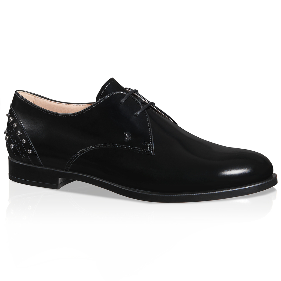 tod s lace up shoes in leather in black lyst