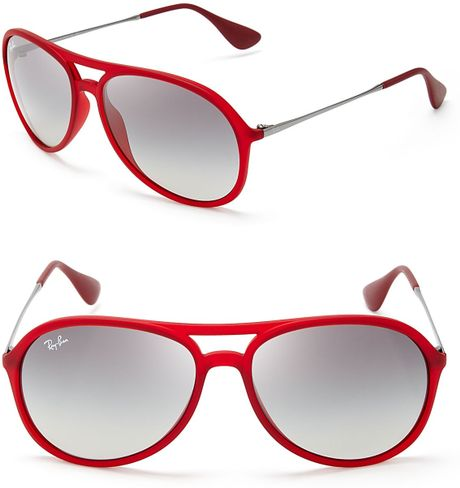 Rb3026 Red Frame Gradient Lens Ray Ban Aviator Sunglasses ...