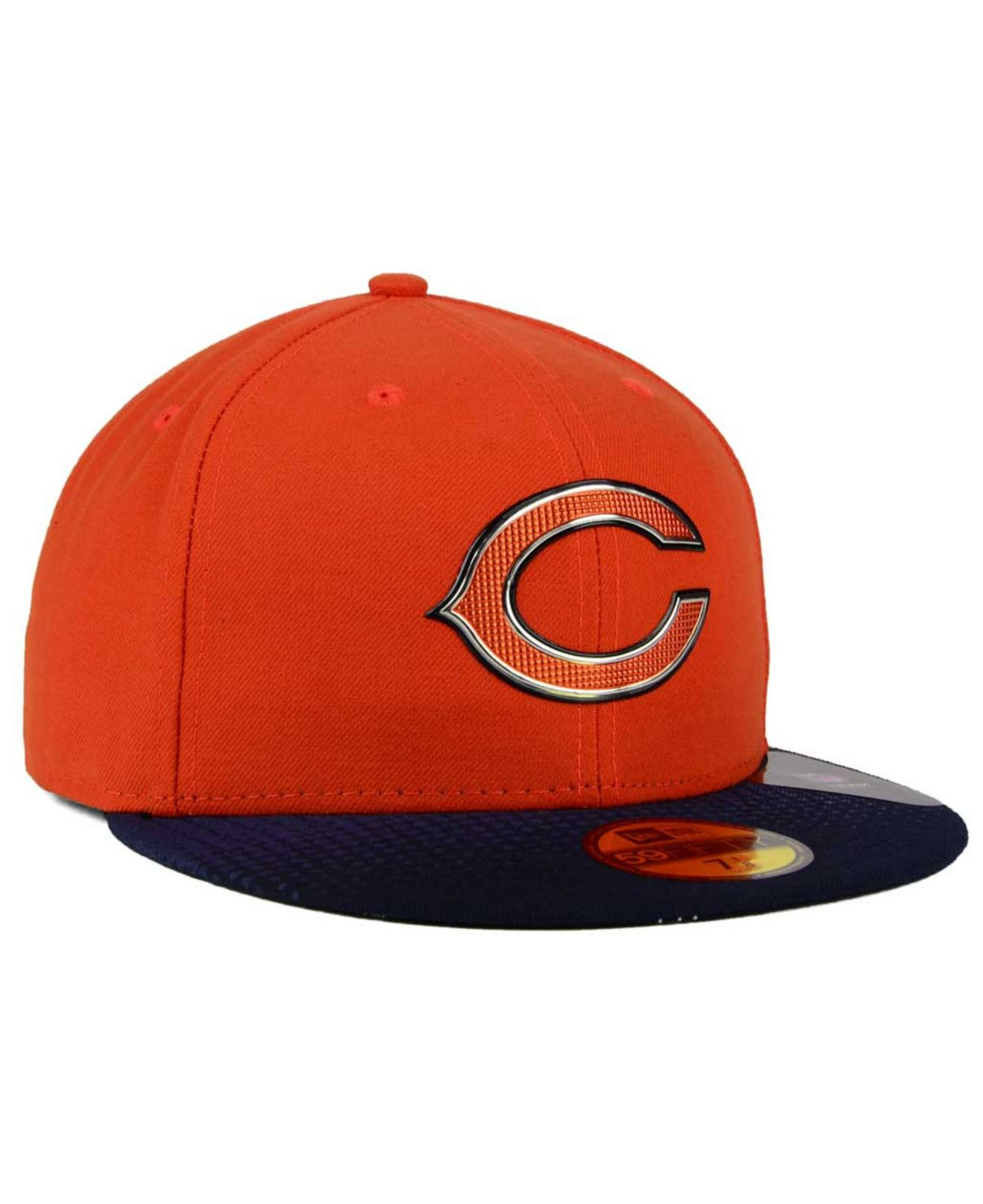 sports shoes bcdcf 66dd4 KTZ Chicago Bears Draft Redo 59fifty Cap in Orange for Men - Lyst