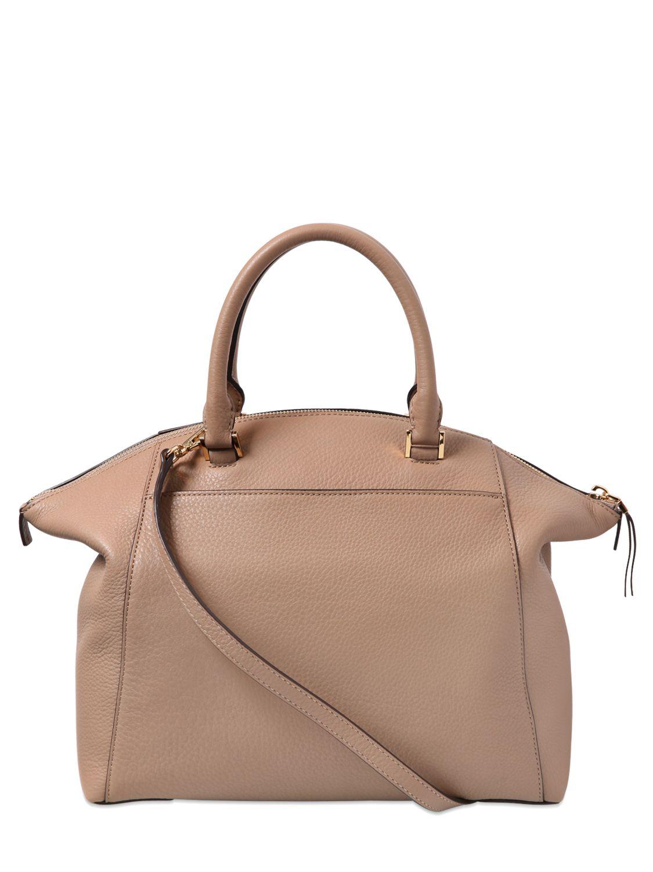 Michael Kors Riley Laukku : Michael kors riley textured leather top handle bag