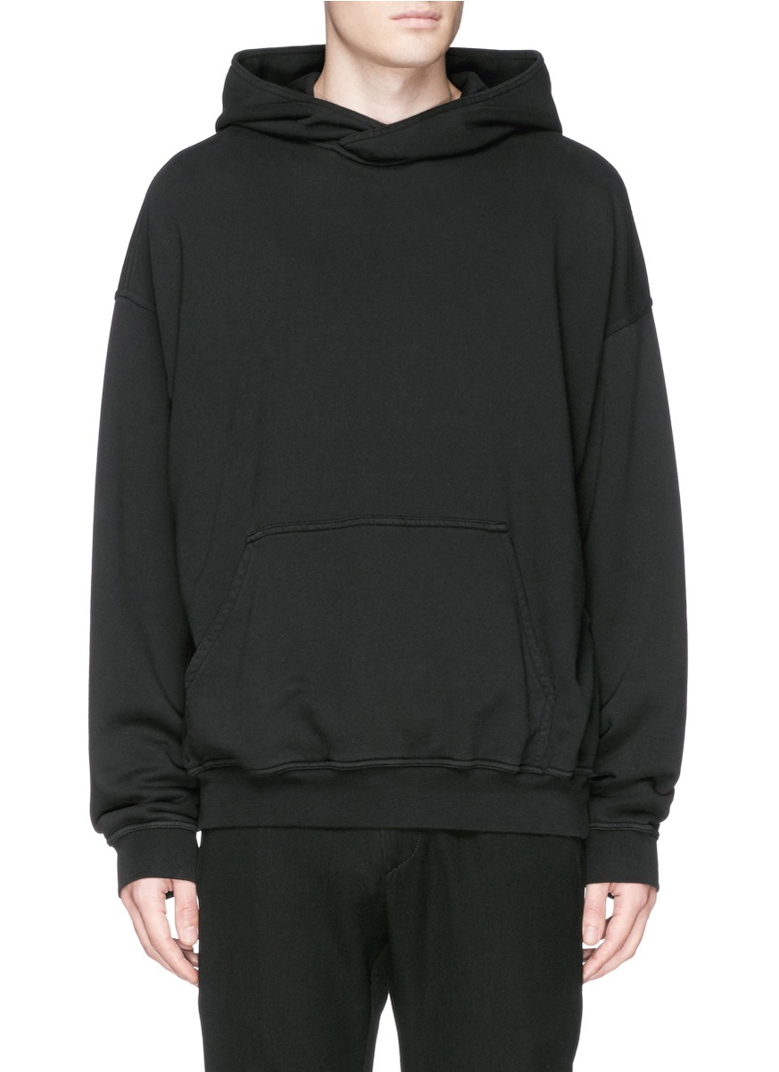 0a49cfaf7850 Lyst - Haider Ackermann Cotton French Terry Hoodie in Black for Men