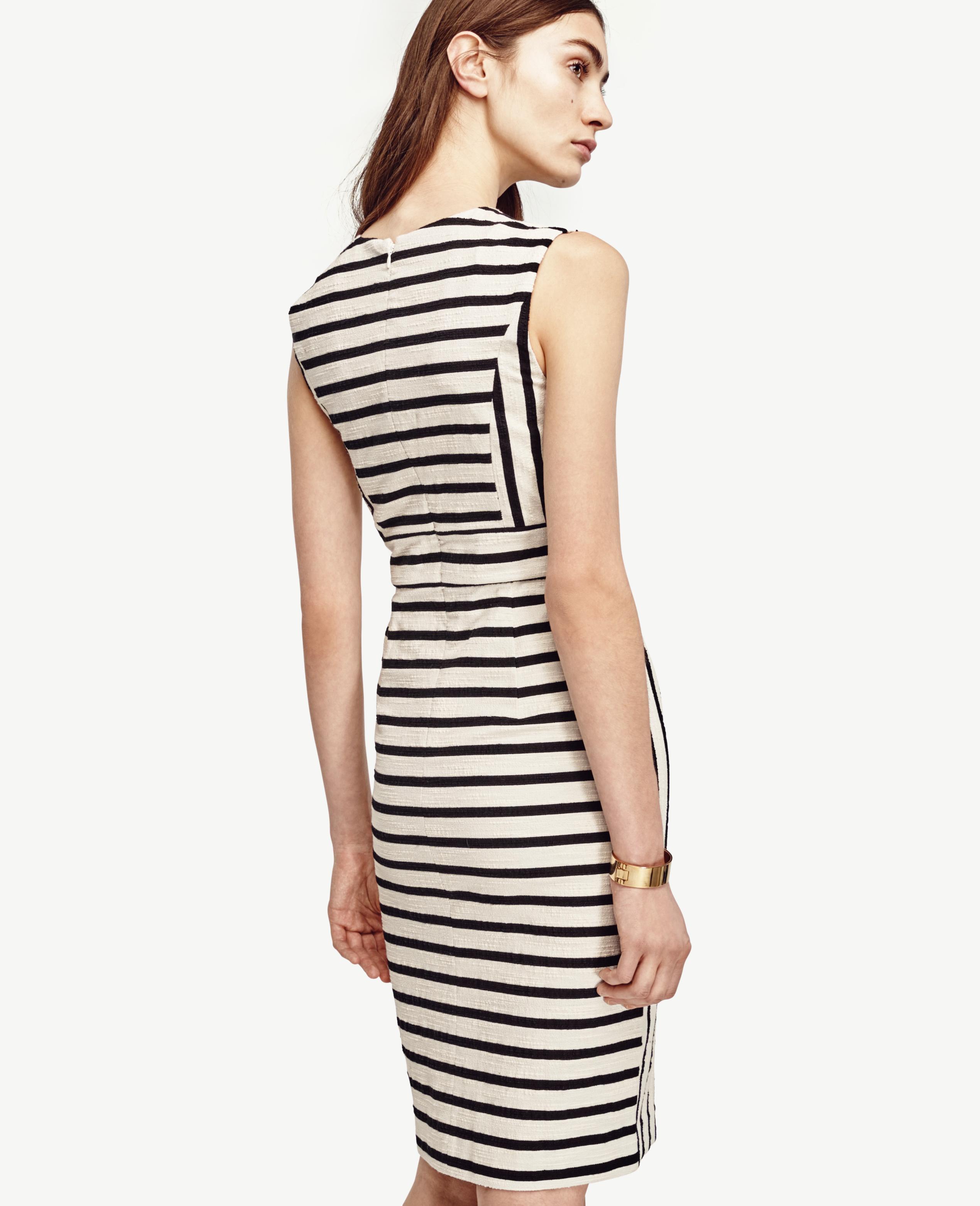 8636d469ca Lyst - Ann Taylor Tall Split Hem Sheath Dress in Natural