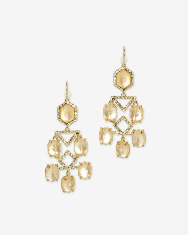 Lyst alexis bittar pave citrine chandelier earring in metallic gallery mozeypictures Gallery