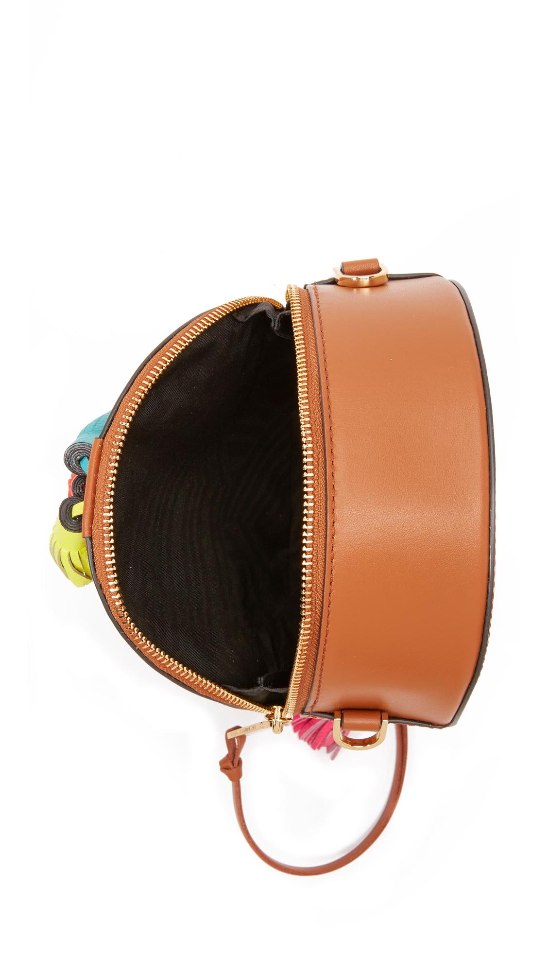 Rebecca Minkoff Leather Round Sofia Cross Body Bag in Almond (Brown)