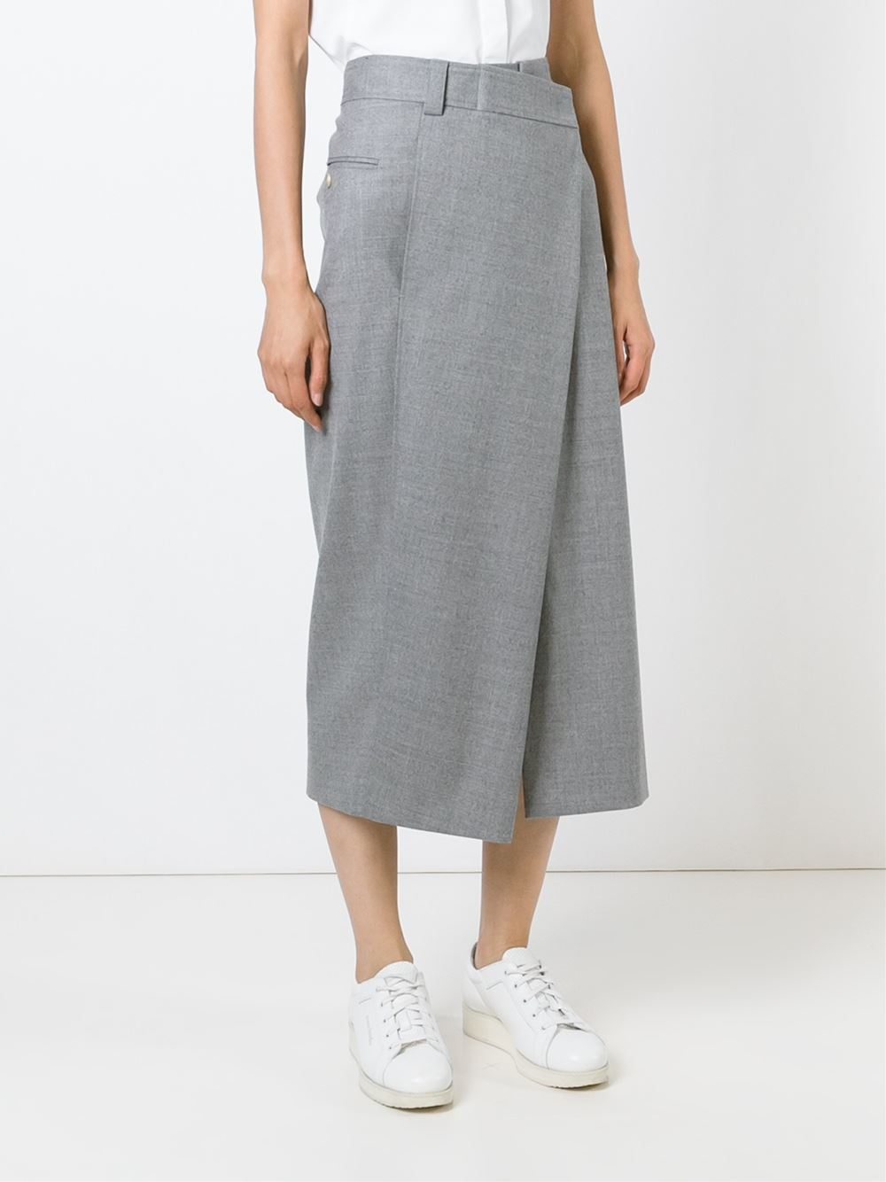 Wrap skirt grey – Modern skirts blog for you