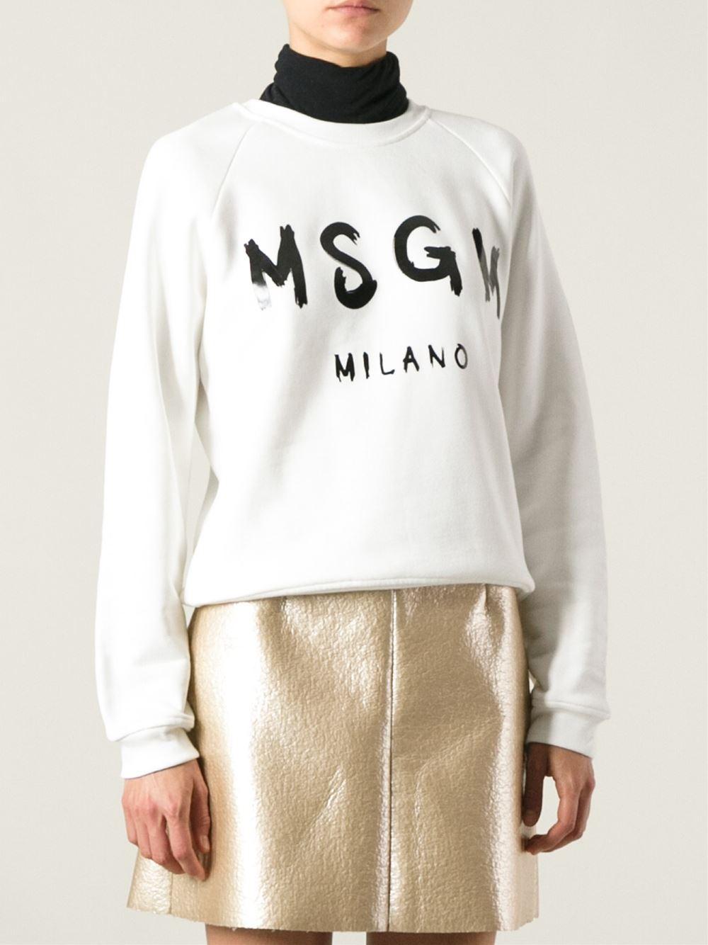 Msgm Printed logo sweatshirt Ylmzro