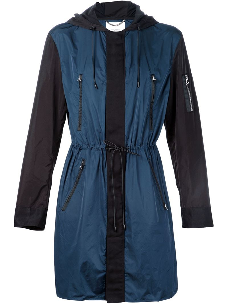 Ovadia and sons Colour Block Parka in Blue for Men