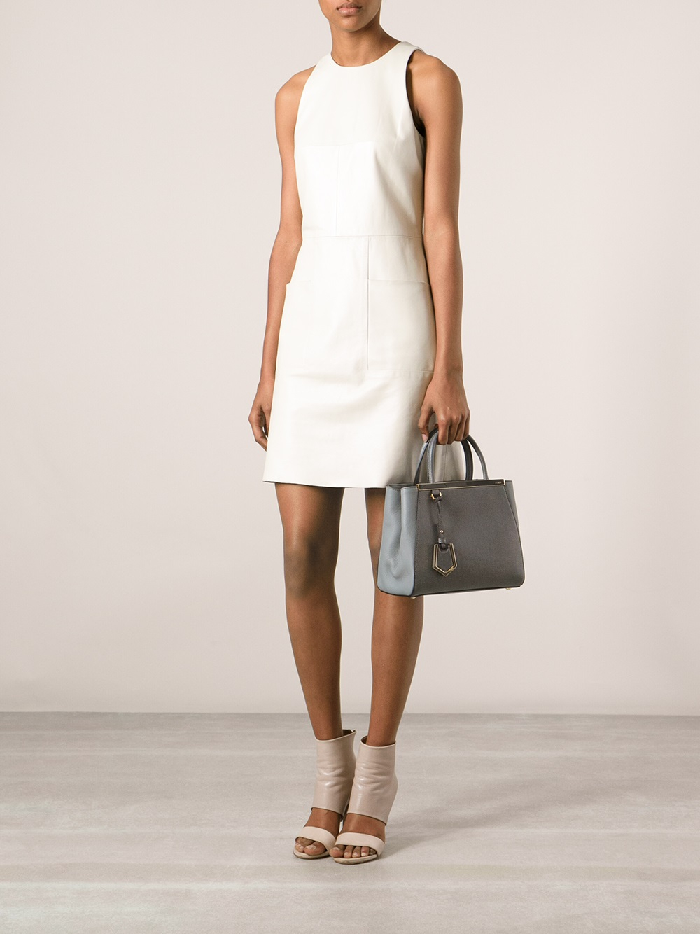 Fendi Small 2jours Tote in Grey (Grey)