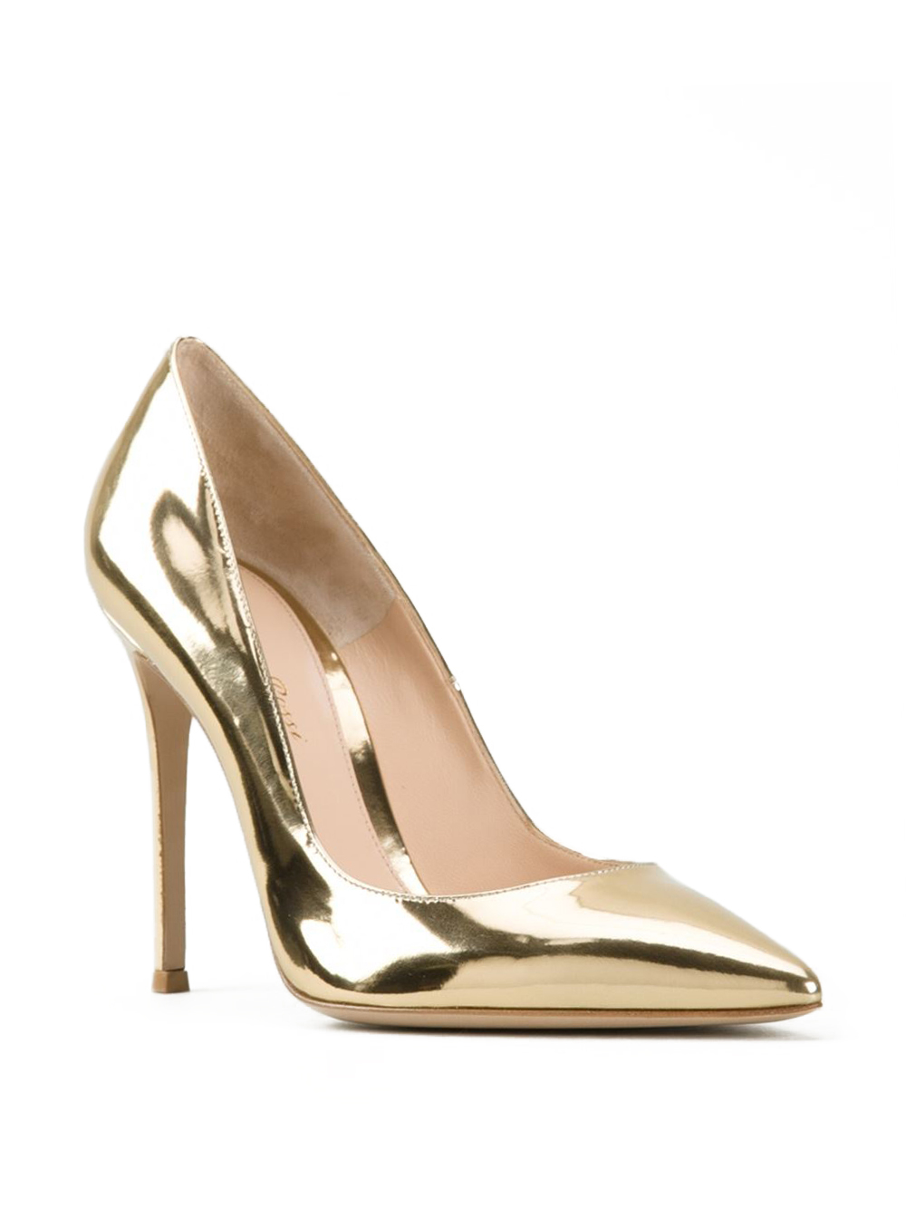 78213e41fdcca1 Lyst gianvito rossi metallic gold pumps in metallic jpg 1000x1334 Metallic  gold pointed pumps