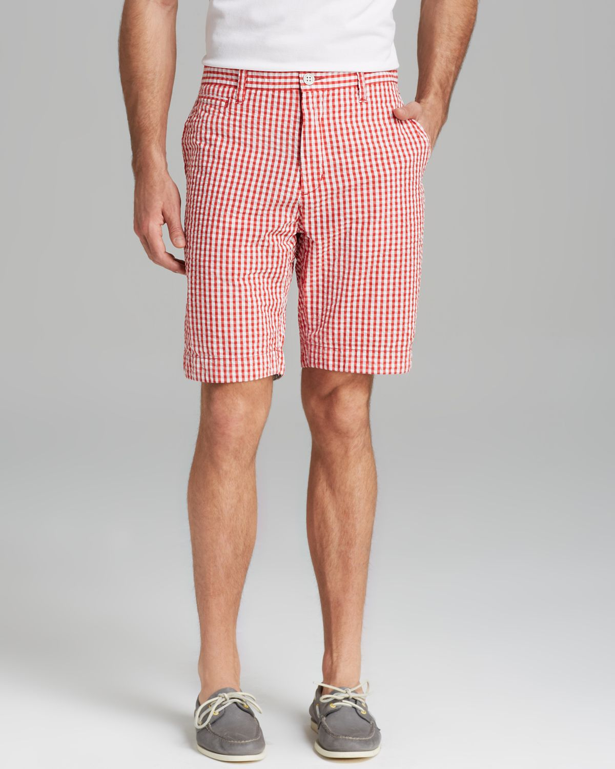 Robert graham Forgione Gingham Seersucker Shorts in White for Men ...