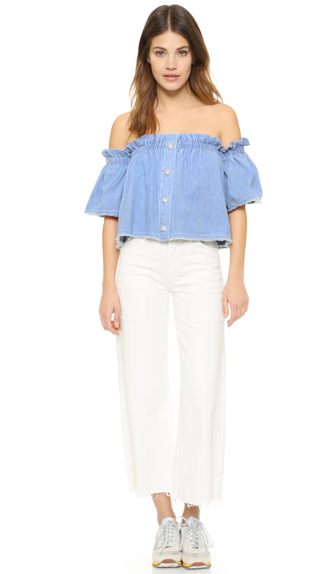 c963479e42b Gallery. Previously sold at  Shopbop · Women s One Shoulder Tops ...