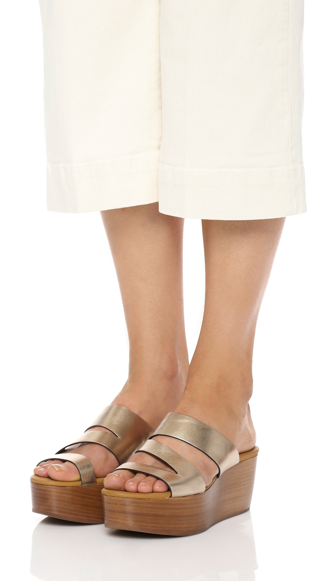 See By Chlo 233 Leather Dania Platform Wedge Sandals In