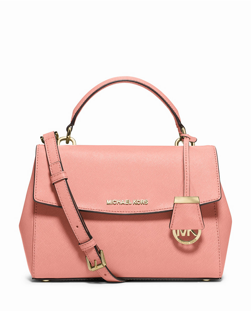michael michael kors pale pink ava small saffiano leather satchel pink. Black Bedroom Furniture Sets. Home Design Ideas
