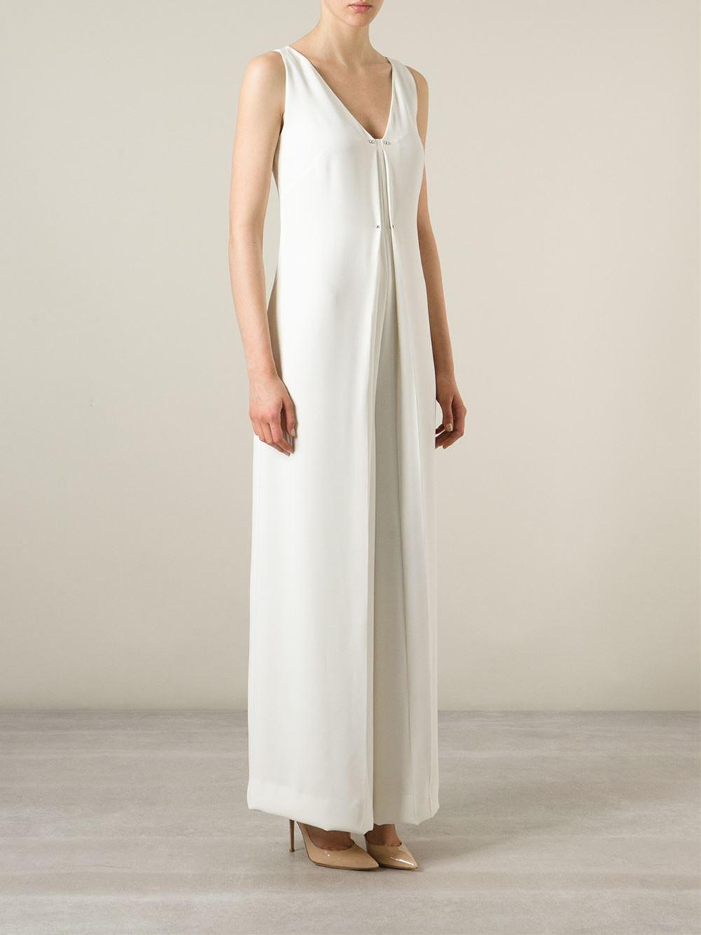 Philosophy Wide Leg Jumpsuit in White | Lyst