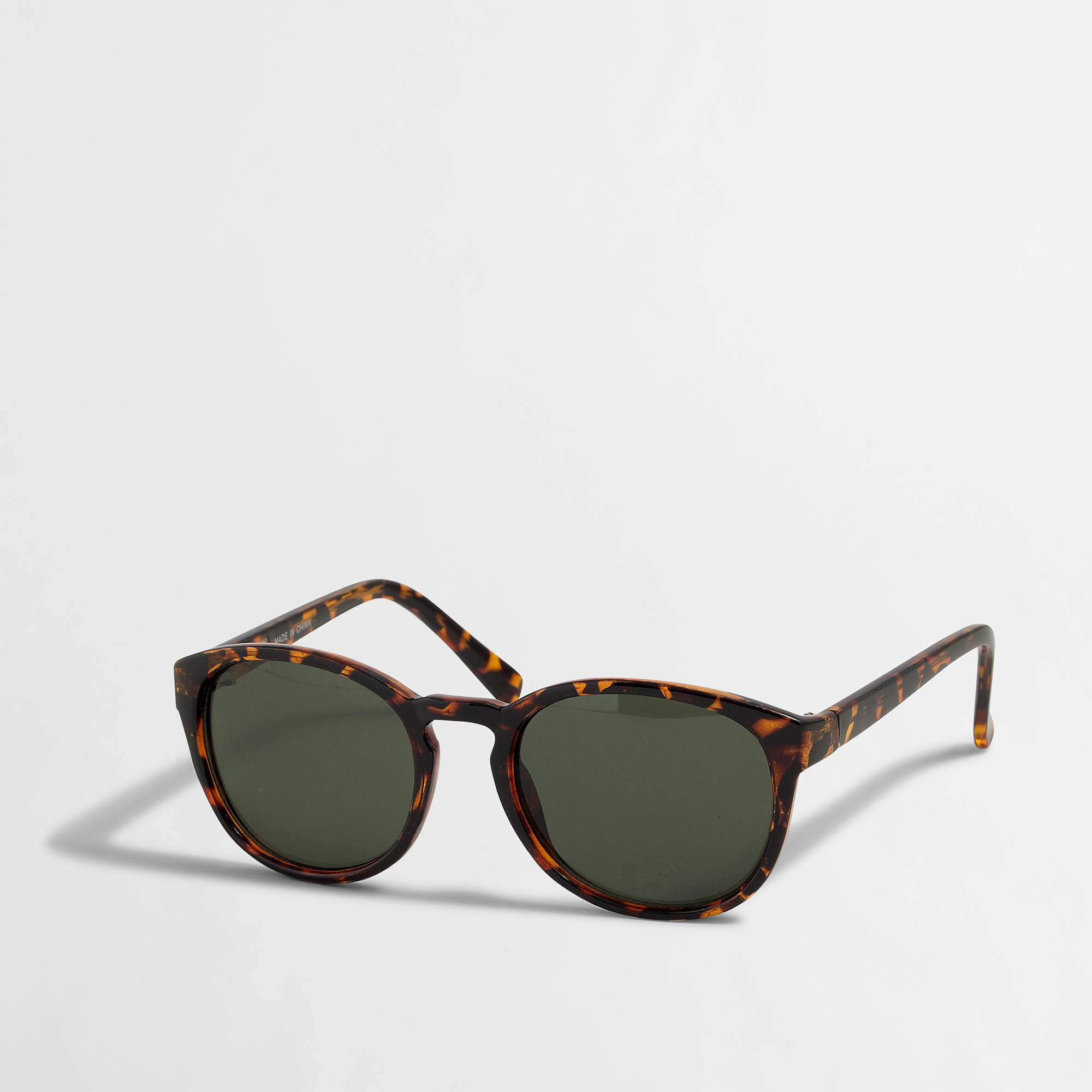 f22c3c6fc7028 J.Crew Black Factory Round Frame Sunglasses for men