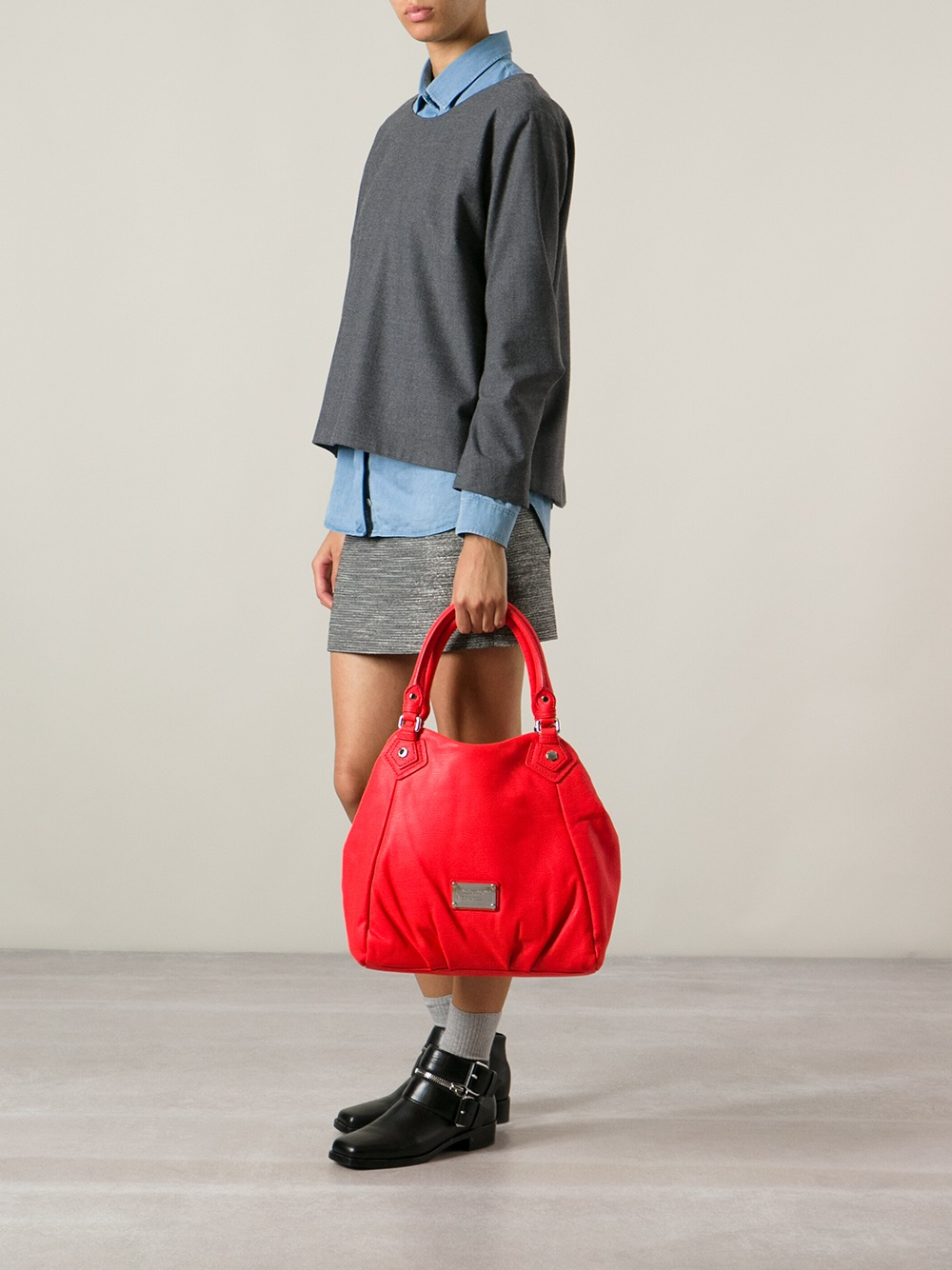 Marc By Marc Jacobs 'Classic Q Fran' Tote in Red