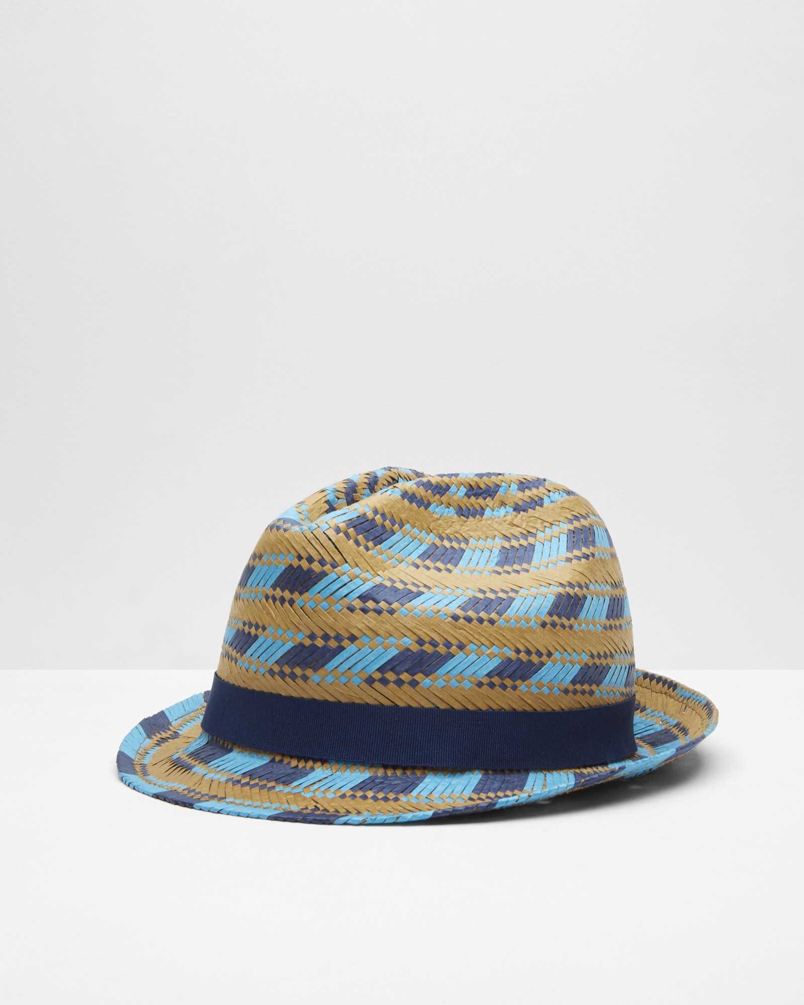 53bc5a92265e9e Ted Baker Multi-coloured Straw Trilby Hat in Natural for Men - Lyst