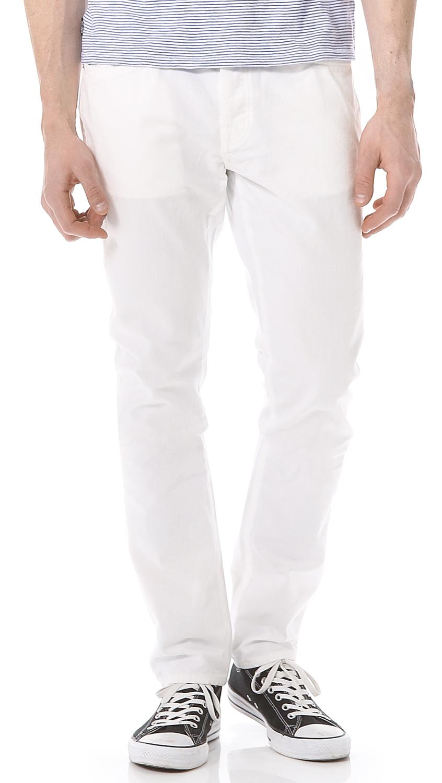 Jack Spade Brantley 5 Pocket Jeans in White for Men