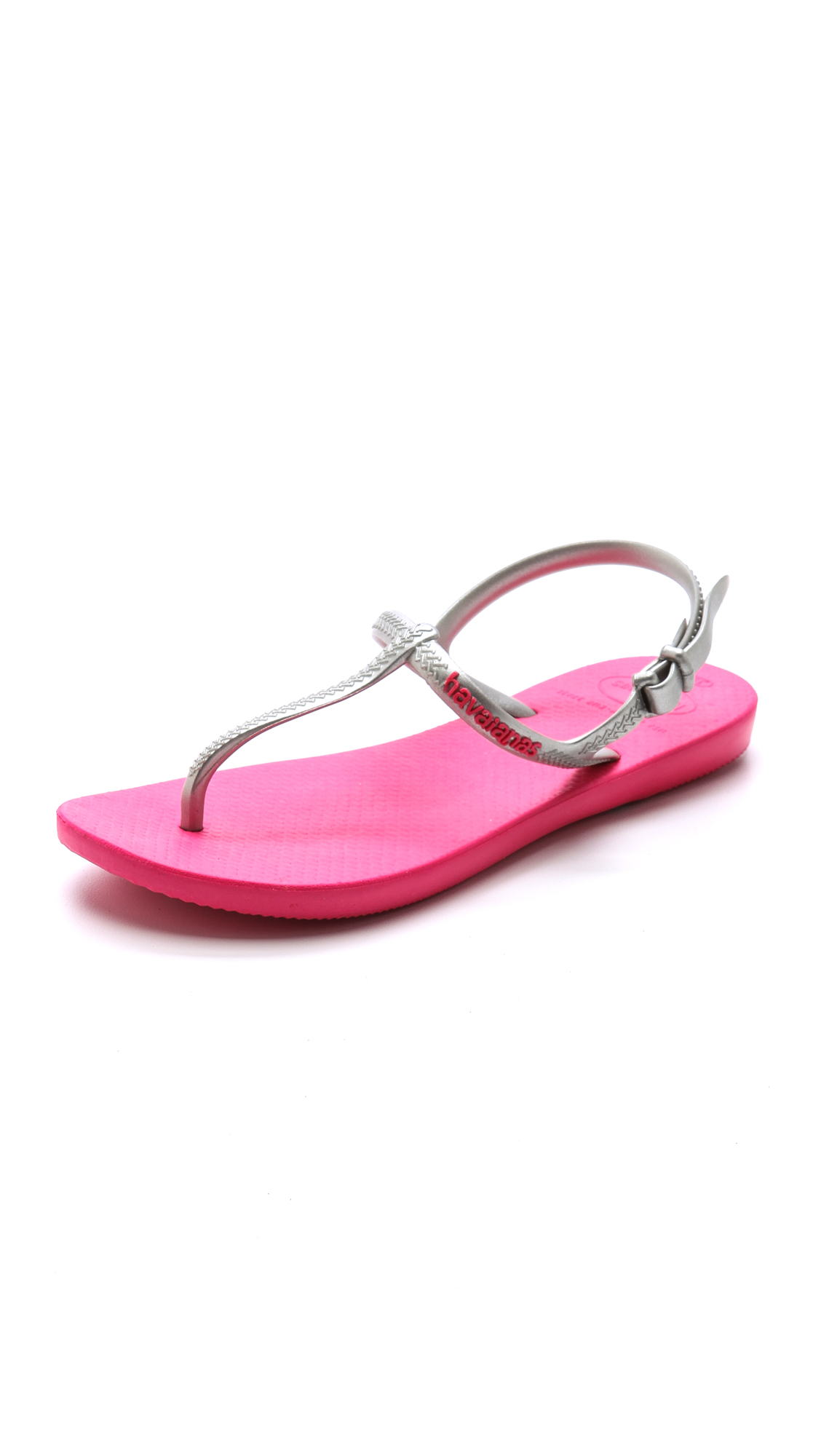 7614f197a5ce2 Lyst - Havaianas Freedom T- Strap Sandals in Metallic