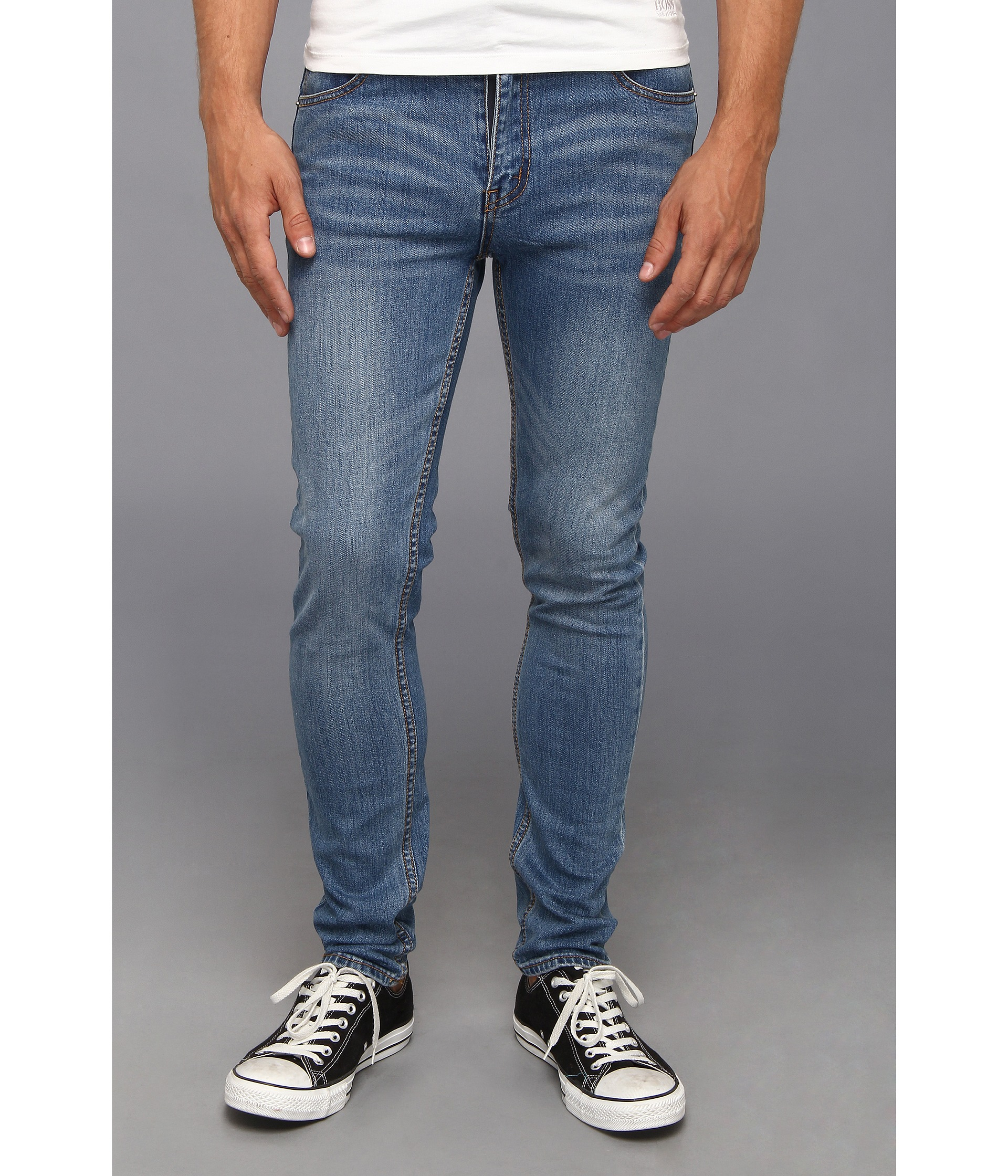 Cheap Monday Denim Tight Skinny Jeans Pure Blue For Men Lyst