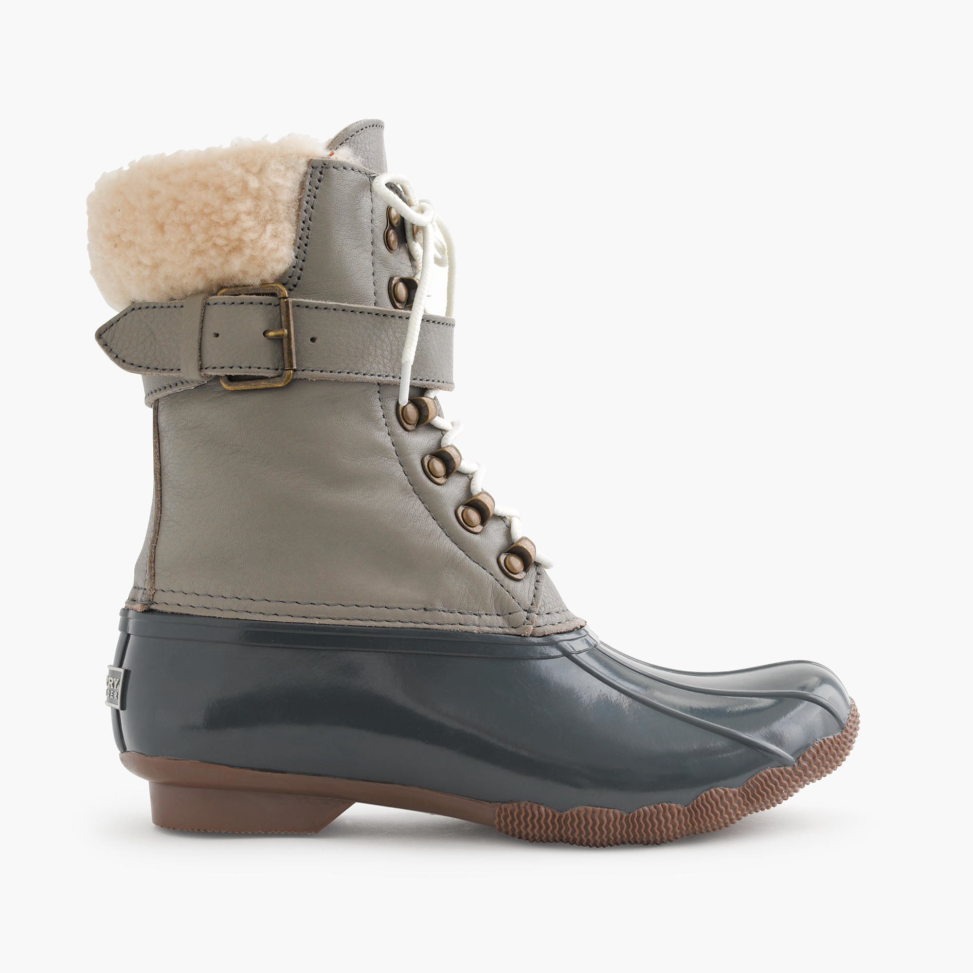 J.crew Sperry Shearwater Water-Resistant Boots in Gray | Lyst