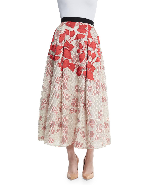 sachin babi akako midi floral skirt in lyst