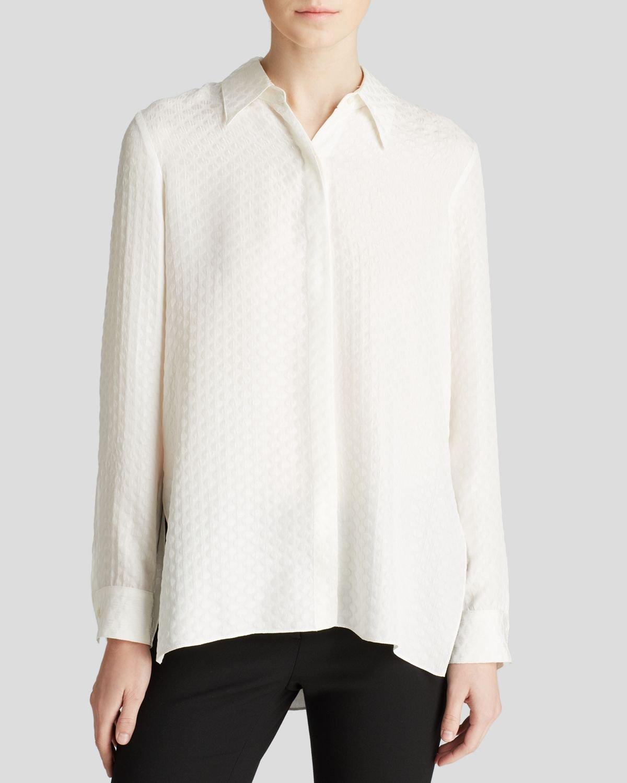cebaeda3cb550c Lyst - Elizabeth and James Blouse - Rollins Silk in White