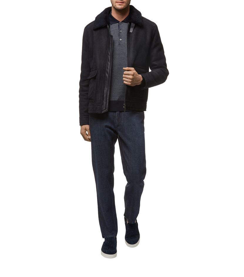 Brioni Shearling Jacket in Black for Men