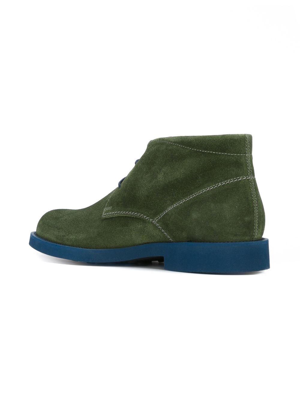 tod 39 s desert boots in green for men lyst. Black Bedroom Furniture Sets. Home Design Ideas