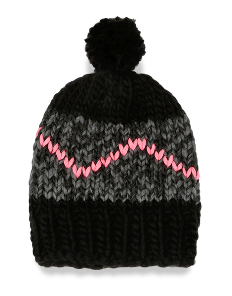 wool and the gang zigzag beanie in black lyst. Black Bedroom Furniture Sets. Home Design Ideas