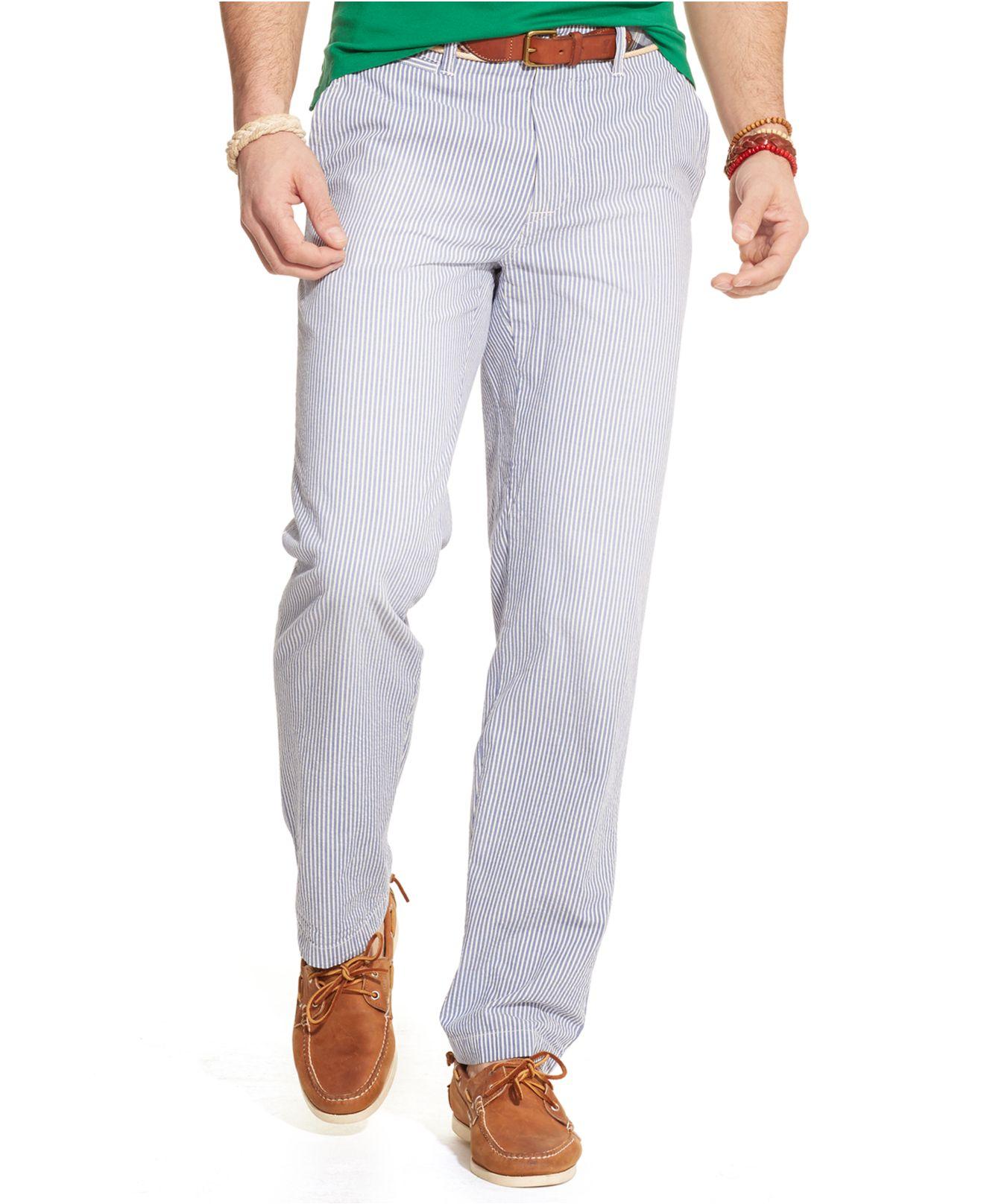 30562fd0e Polo Ralph Lauren Classic-Fit Maritime Seersucker Pants in Blue for ...