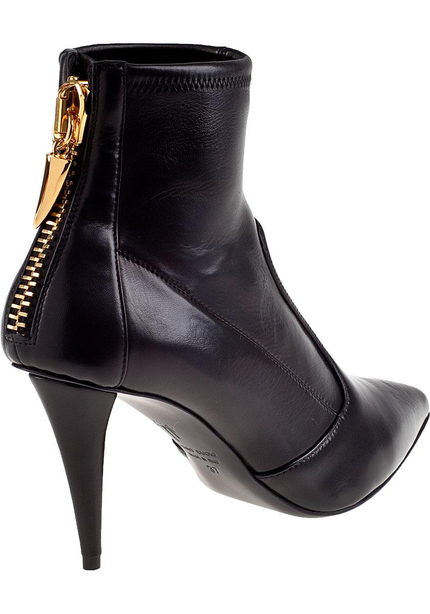 giuseppe zanotti stretch ankle boot black leather in black