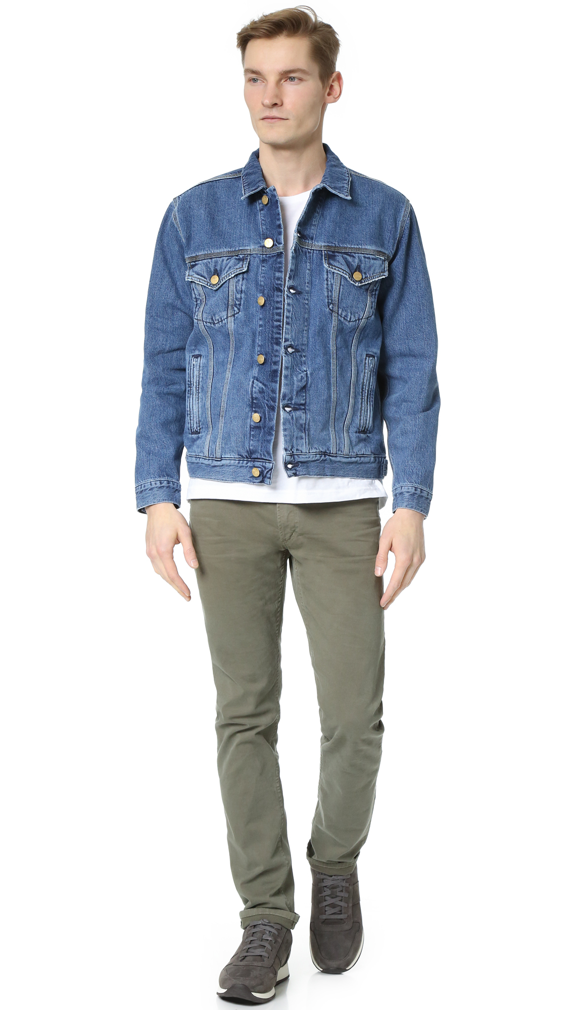 Carhartt Wip Stone Washed Western Jacket In Blue For Men