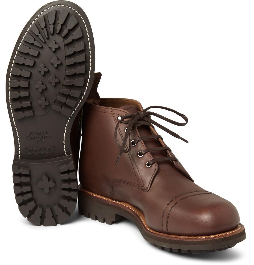 Grenson Ryan C American Military work Boots Goodyear welted Nutmeg UK 10