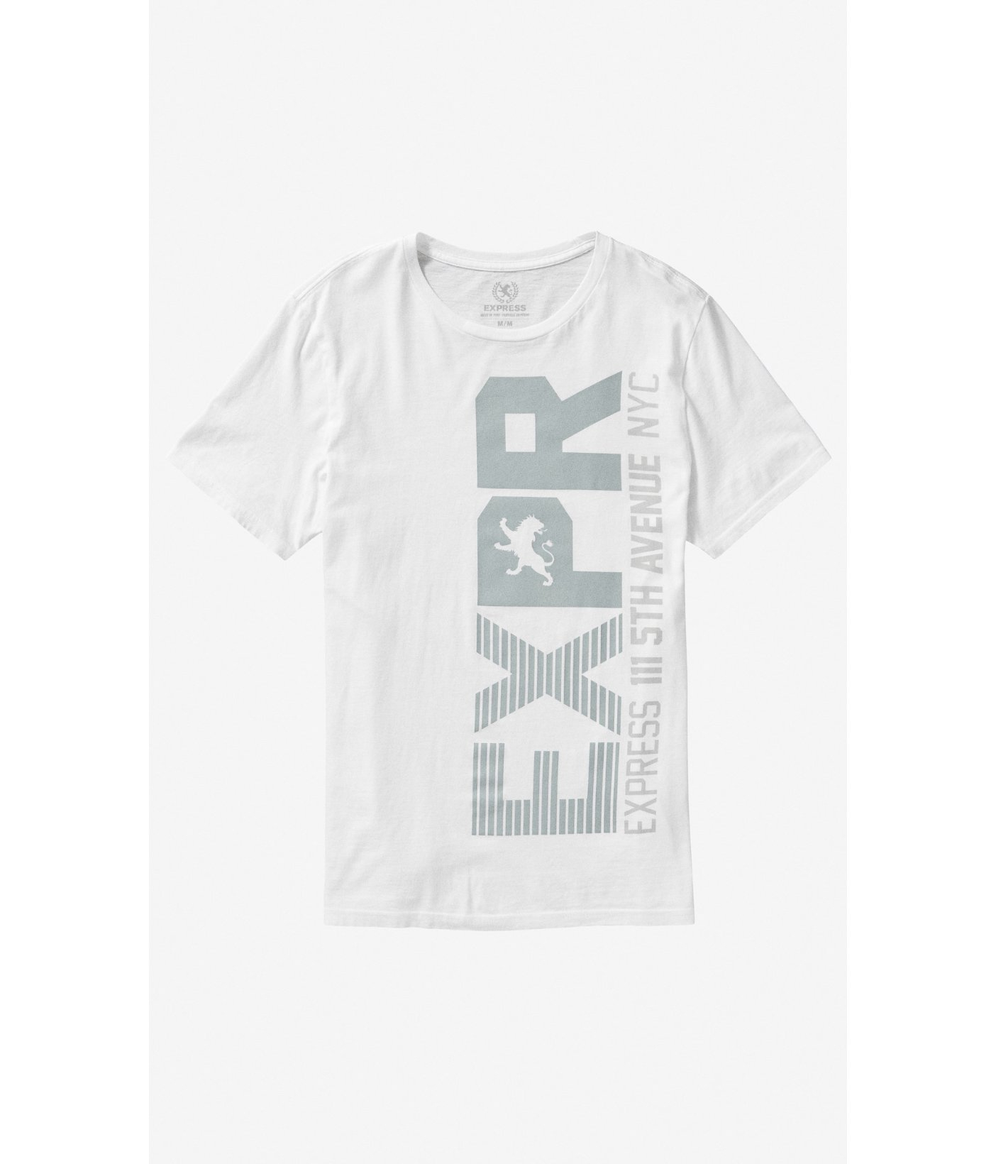 Lyst - Express Exp White Vertical Graphic Tee in White for Men 6b9a714a67