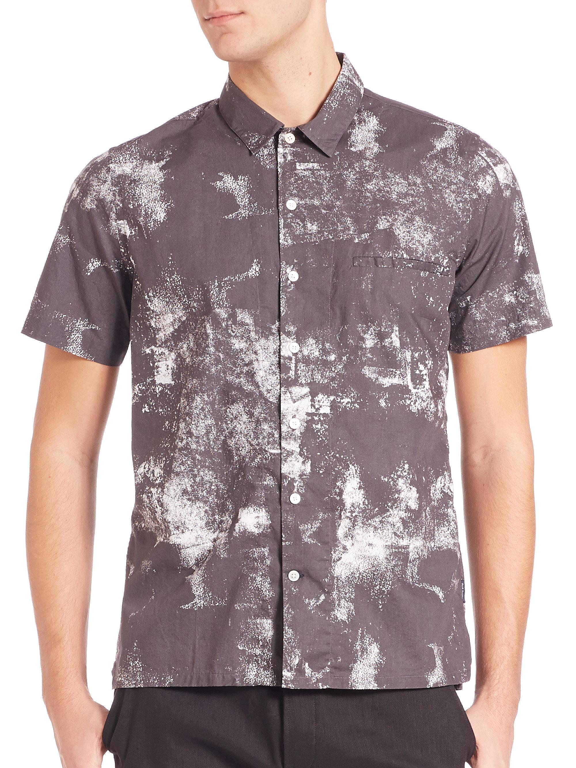 Lyst Paul Smith Short Sleeve Hawaiian Tie Dye Shirt In