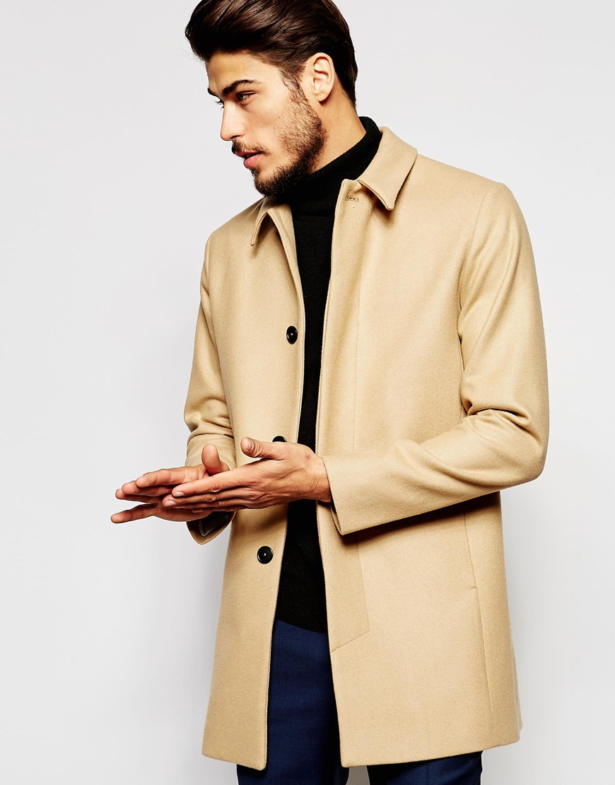 ce28f414dbe9 Noak Wool Trench Coat in Natural for Men - Lyst