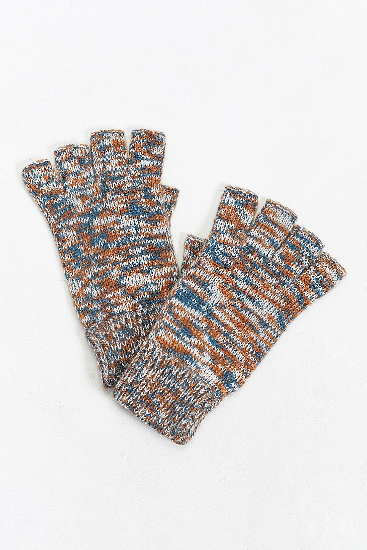 Urban Outfitters Marled Fingerless Glove For Men Lyst